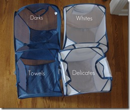 Laundry Sorters Top View