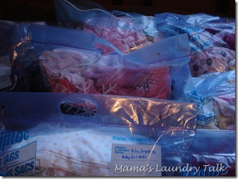 Storage Bags of Children's Clothes