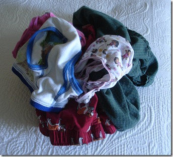Pile of Underwear During Folding
