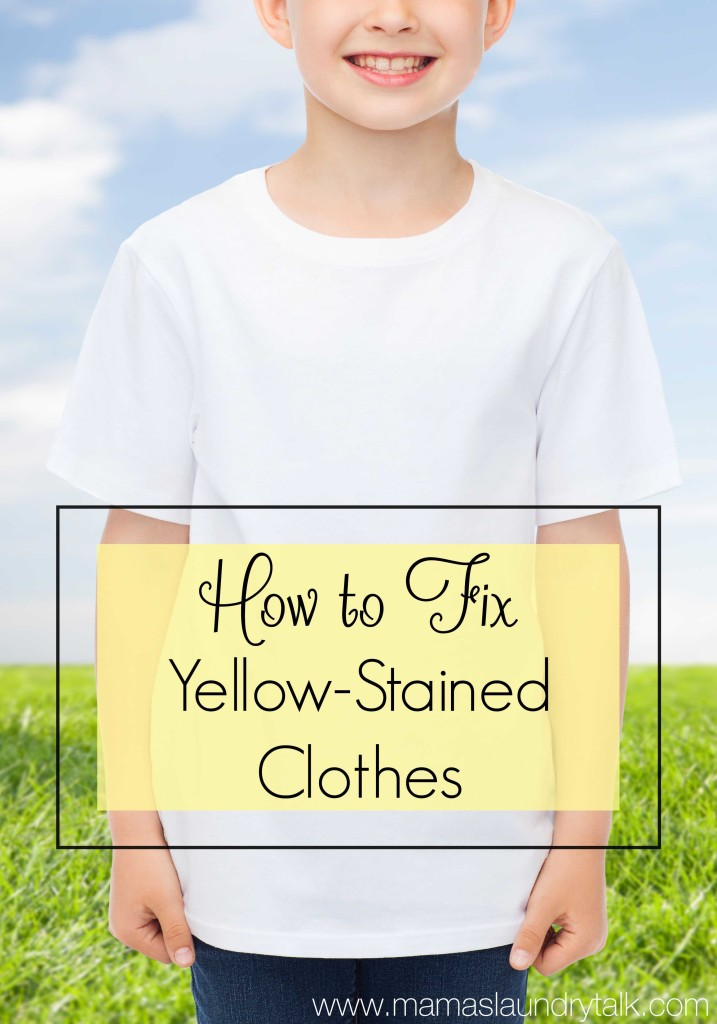 Have your white clothes turned yellow? Here's how to fix them!