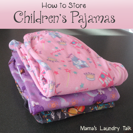 How to Store Children's Pajamas