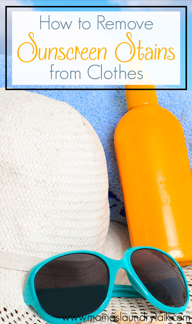 How to Remove Sunscreen Stains From Clothes